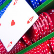 Poker chips with ace — Stock Photo #5296048
