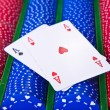Poker chips with ace — Stock Photo #5296102