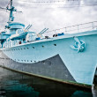 Gdynia war ship — Stock Photo
