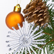 Christmas tree decorated - Stockfoto
