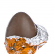 Chocolate easter egg — Stock Photo
