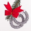 Decorated Christmas tree branch — Stock Photo #5299287