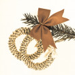 Decorated Christmas tree branch — Stock Photo #5299539