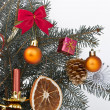 Christmas tree decorated — Stock Photo #5299557