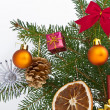 Christmas tree decorated — Foto Stock