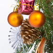 Christmas tree decorated — Stock Photo #5299739