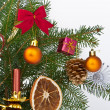 Christmas tree decorated — Foto de Stock