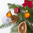 Christmas tree decorated — Stock Photo