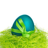 Easter egg in nest — Stock Photo