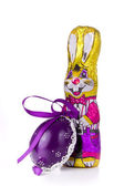 Easter bunny with egg — Stockfoto