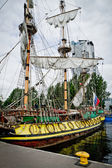 Harbour of the city of Gdynia, Poland — Stock Photo