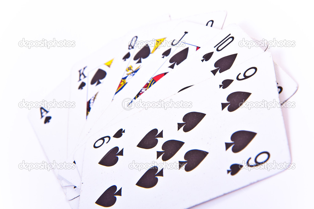 Spade sequence on white background — Stock Photo #5294371