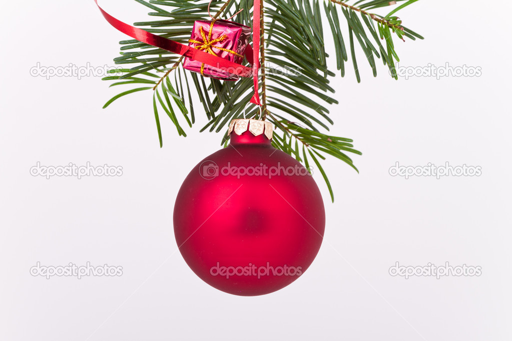 Christmas decoration on Christmas tree — Stock Photo #5295267