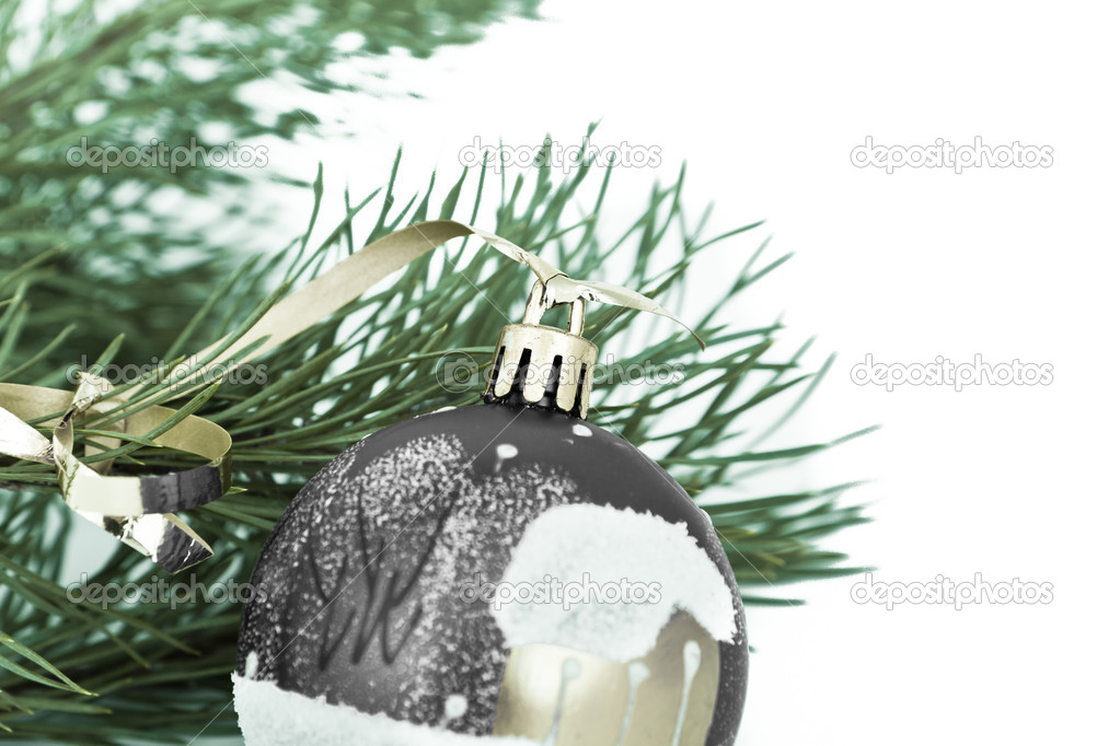 Christmas decoration on Christmas tree — Stock Photo #5295281