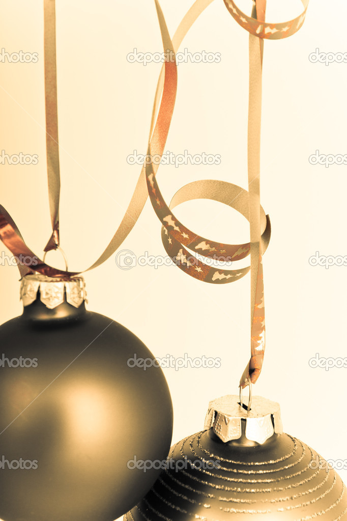 Hanging Christmas decoration on white background — Stock Photo #5295285