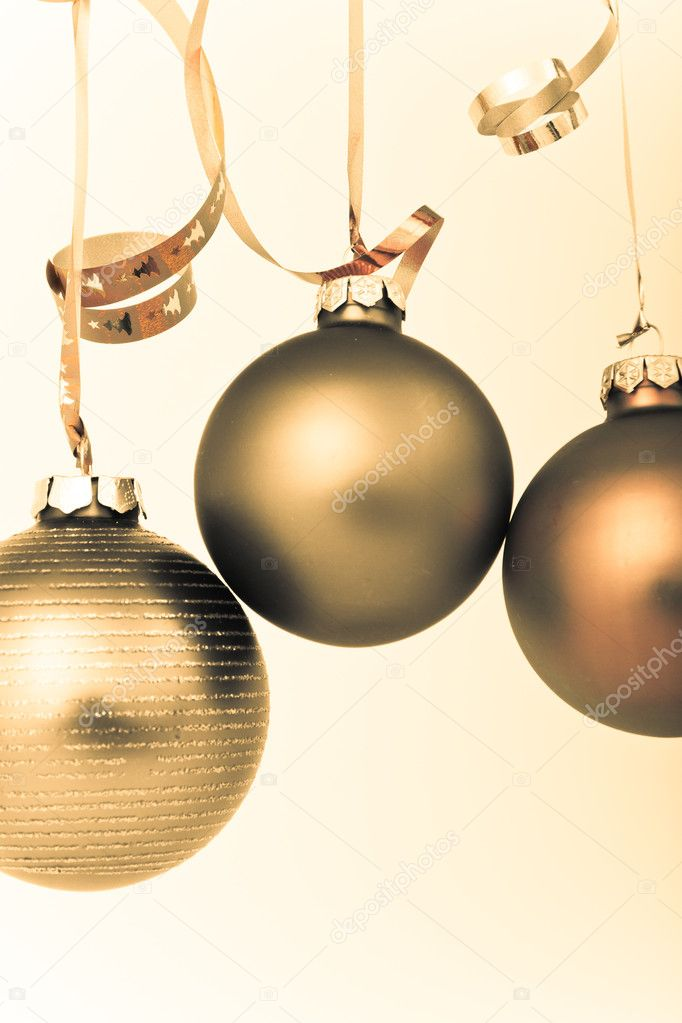 Hanging Christmas decoration on white background — Stock Photo #5295379