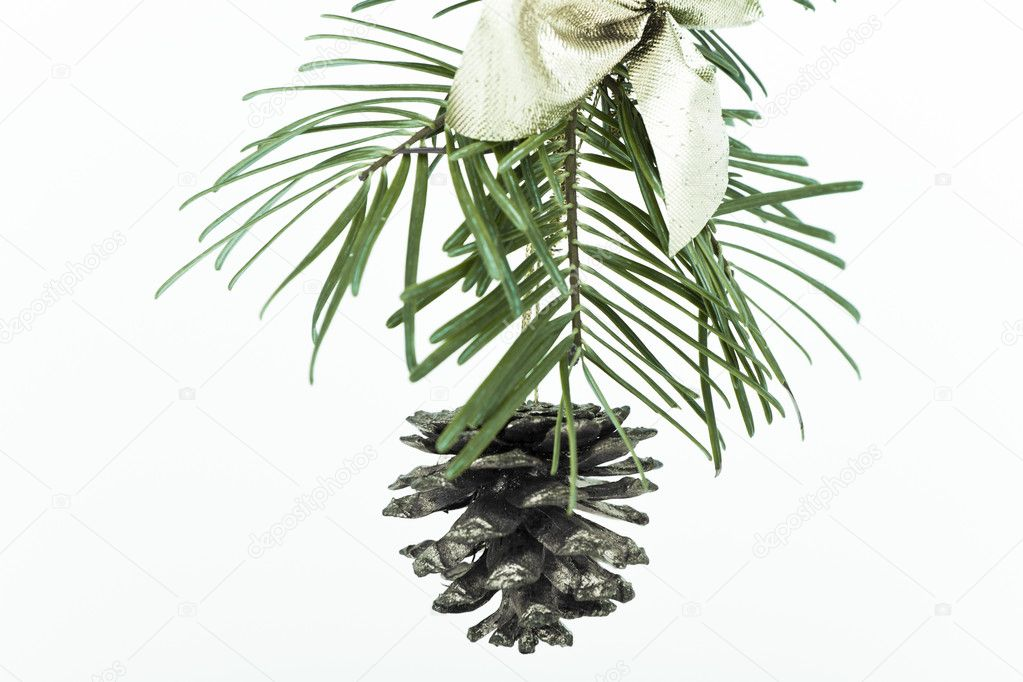 Decoration on Christmas tree isolated — Stock Photo #5295398