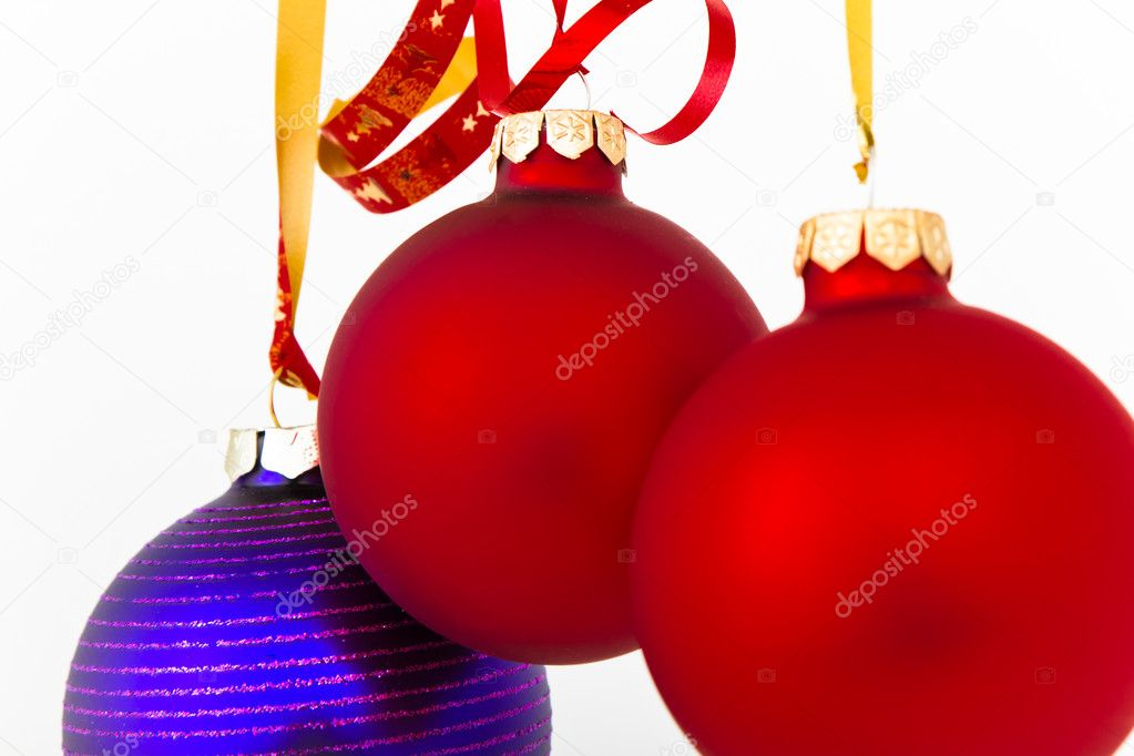 Hanging Christmas decoration on white background — Stock Photo #5295620