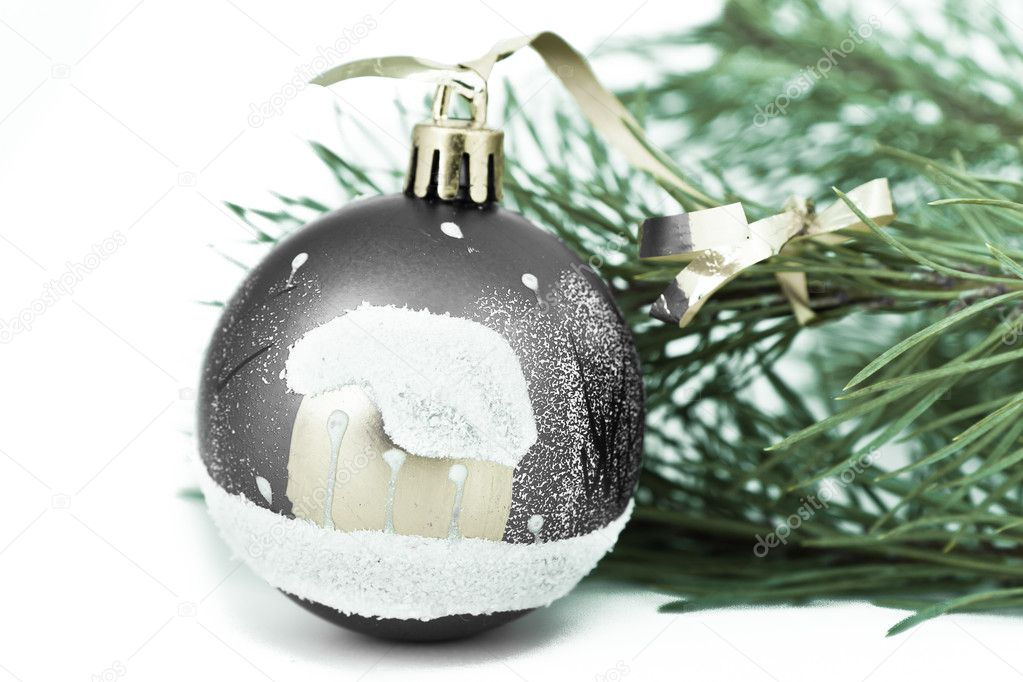 Christmas decoration on Christmas tree — Stock Photo #5295651
