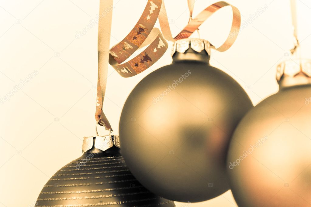 Hanging Christmas decoration on white background  Stock Photo #5295728