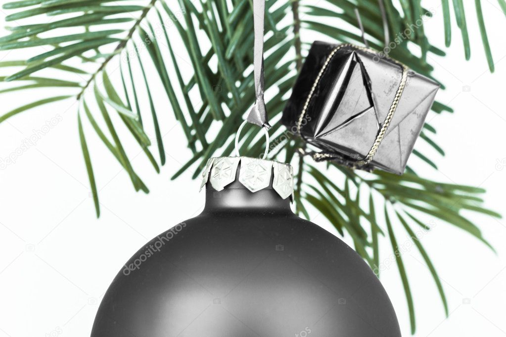 Christmas decoration on Christmas tree — Stock Photo #5295835