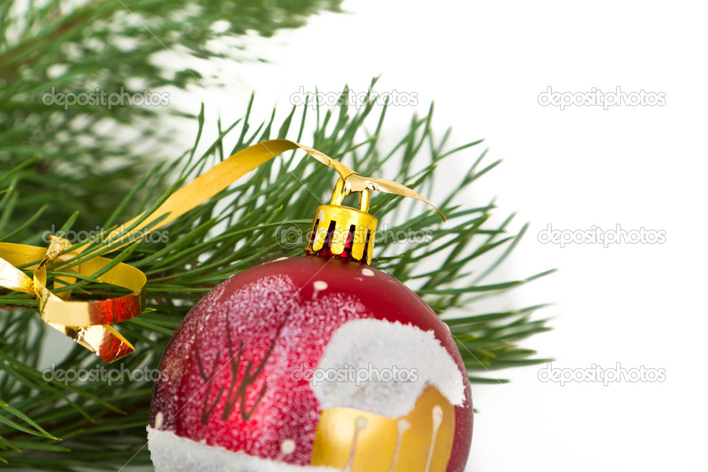 Christmas decoration on Christmas tree  Stock Photo #5295903
