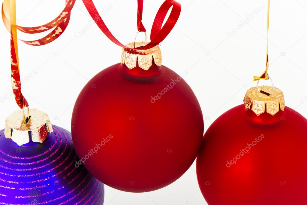 Hanging Christmas decoration on white background — Stock Photo #5295916