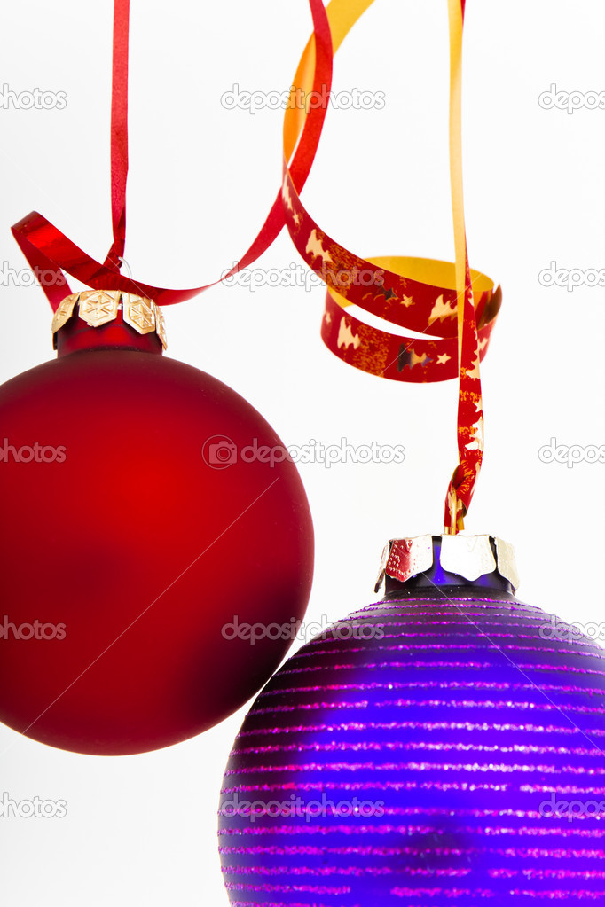 Hanging Christmas decoration on white background — Stock Photo #5295979