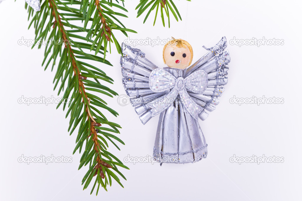 Decoration on Christmas tree isolated — Stock Photo #5296002