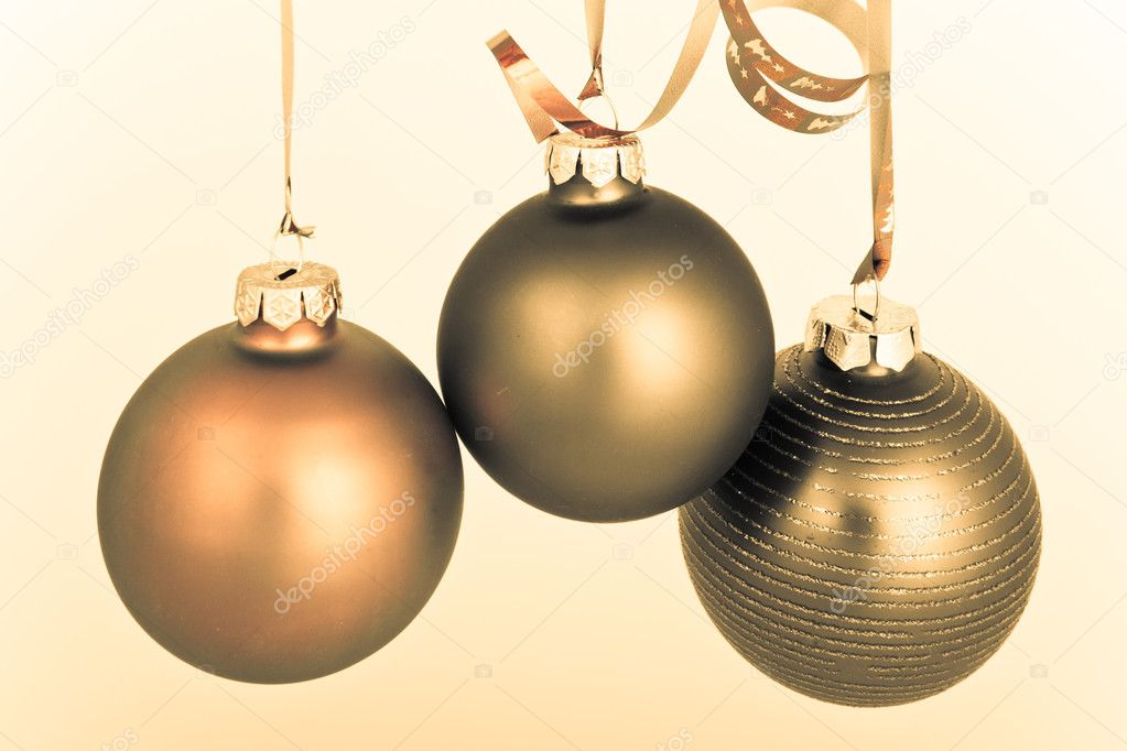 Hanging Christmas decoration on white background — Stock Photo #5296023