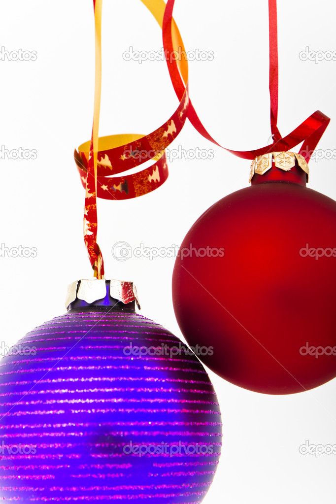 Hanging Christmas decoration on white background — Stock Photo #5296061