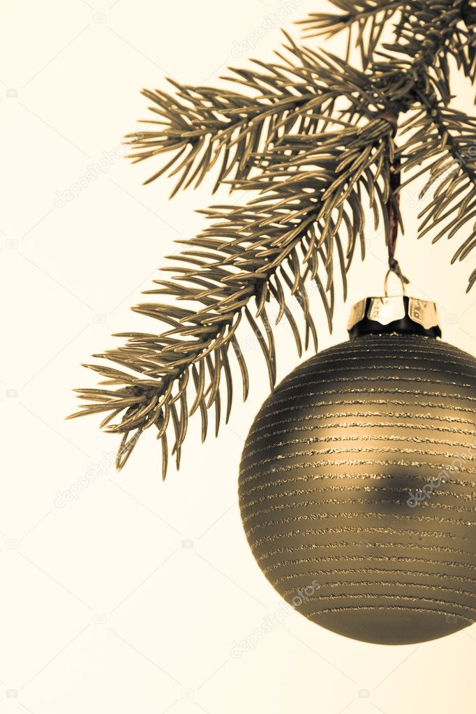 Christmas decoration on Christmas tree  Stock Photo #5296213