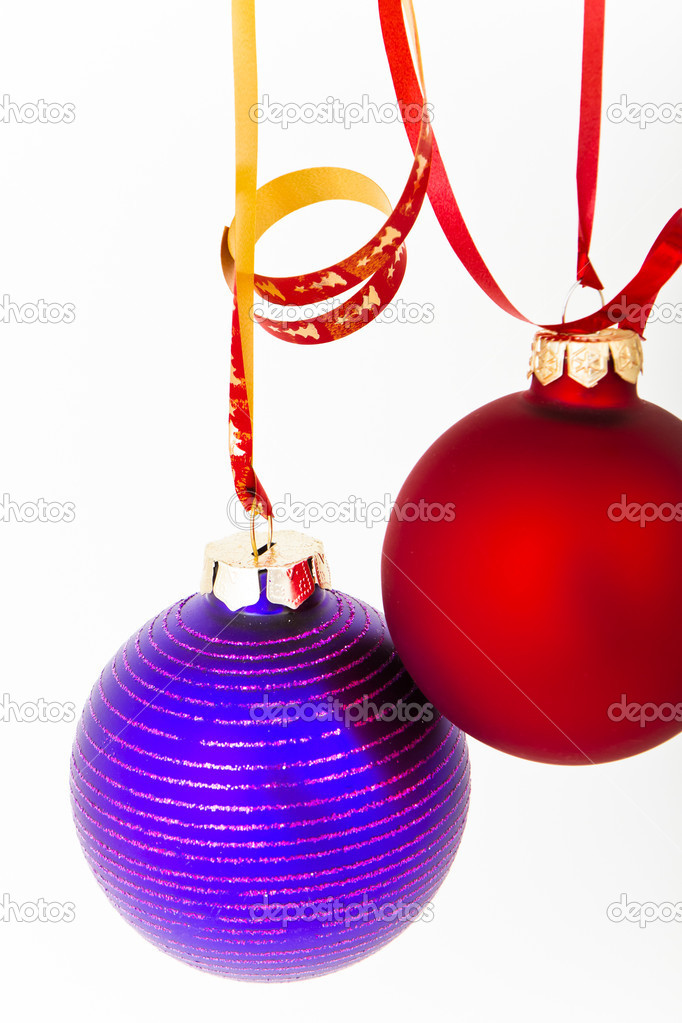 Hanging Christmas decoration on white background — Stock Photo #5296293