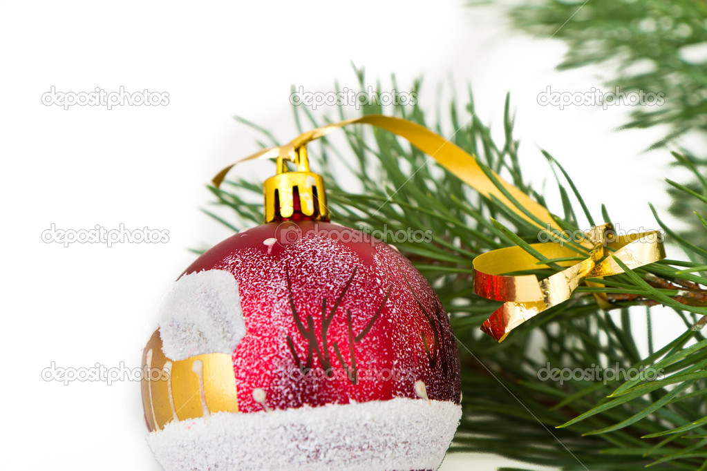 Christmas decoration on Christmas tree — Stock Photo #5296473