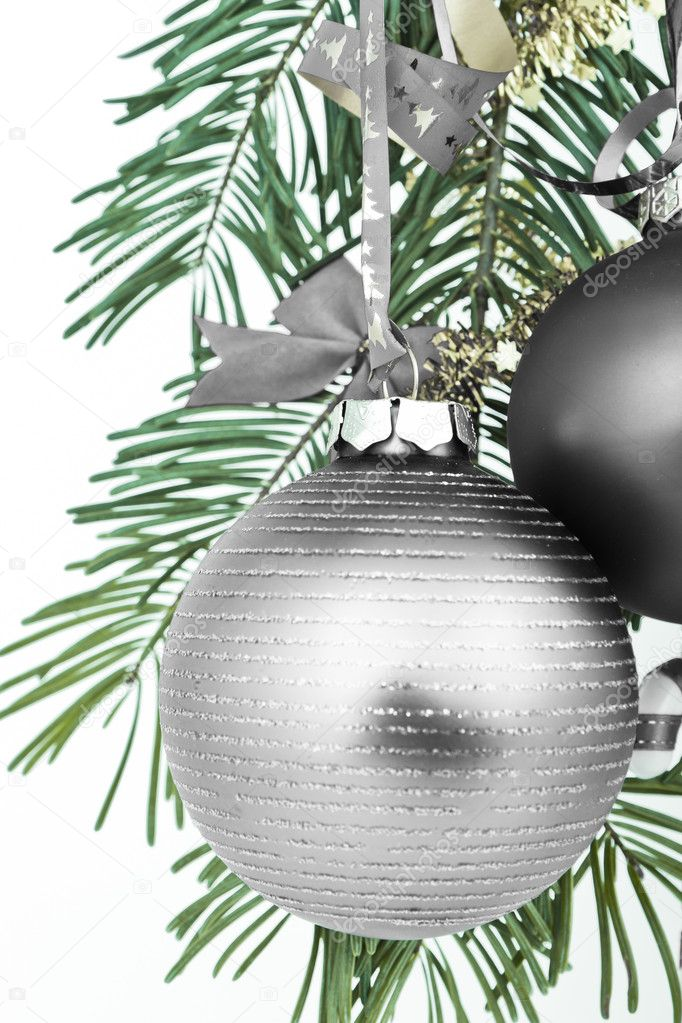 Christmas decoration on Christmas tree  Stock Photo #5296625