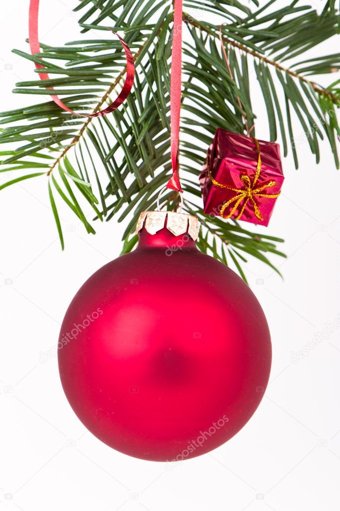 Christmas decoration on Christmas tree — Stock Photo #5296709