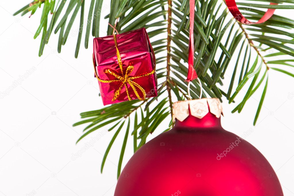Christmas decoration on Christmas tree — Stock Photo #5296779
