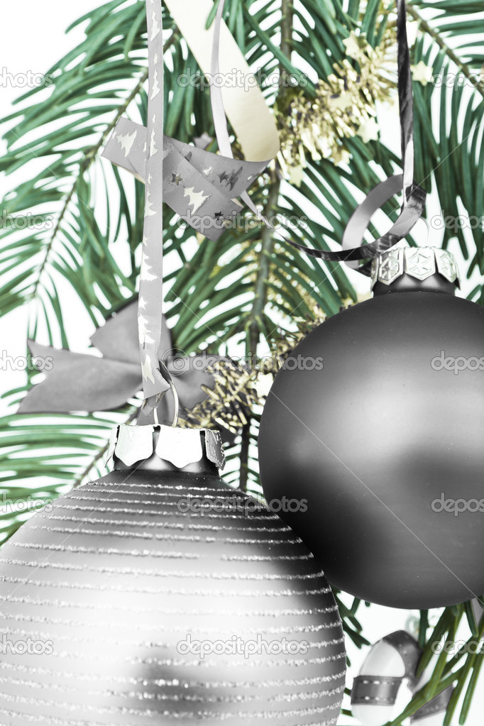 Christmas decoration on Christmas tree — Stock Photo #5296840