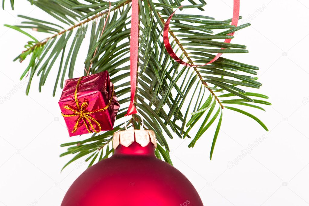 Christmas decoration on Christmas tree — Stock Photo #5297492