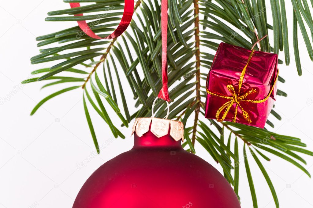 Christmas decoration on Christmas tree — Stock Photo #5297677