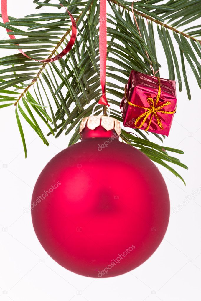 Christmas decoration on Christmas tree  Stock Photo #5297691