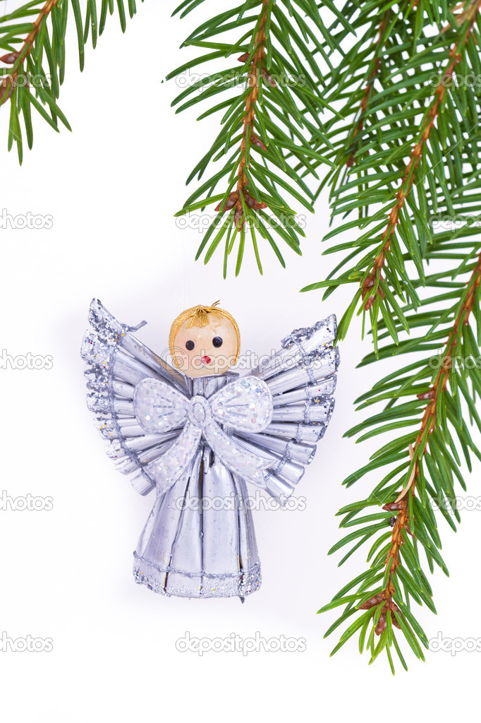 Decoration on Christmas tree isolated — Stock Photo #5297695