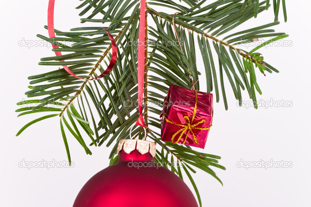Christmas decoration on Christmas tree — Stock Photo #5297737