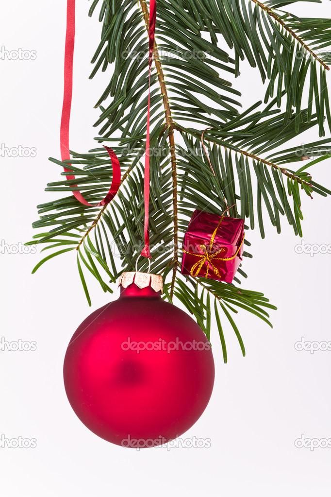 Christmas decoration on Christmas tree — Stock Photo #5297820
