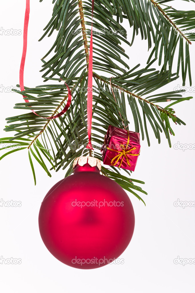 Christmas decoration on Christmas tree — Stock Photo #5297829