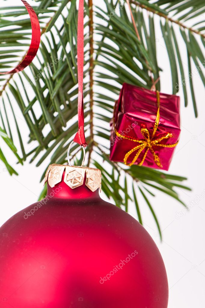 Christmas decoration on Christmas tree — Stock Photo #5297853