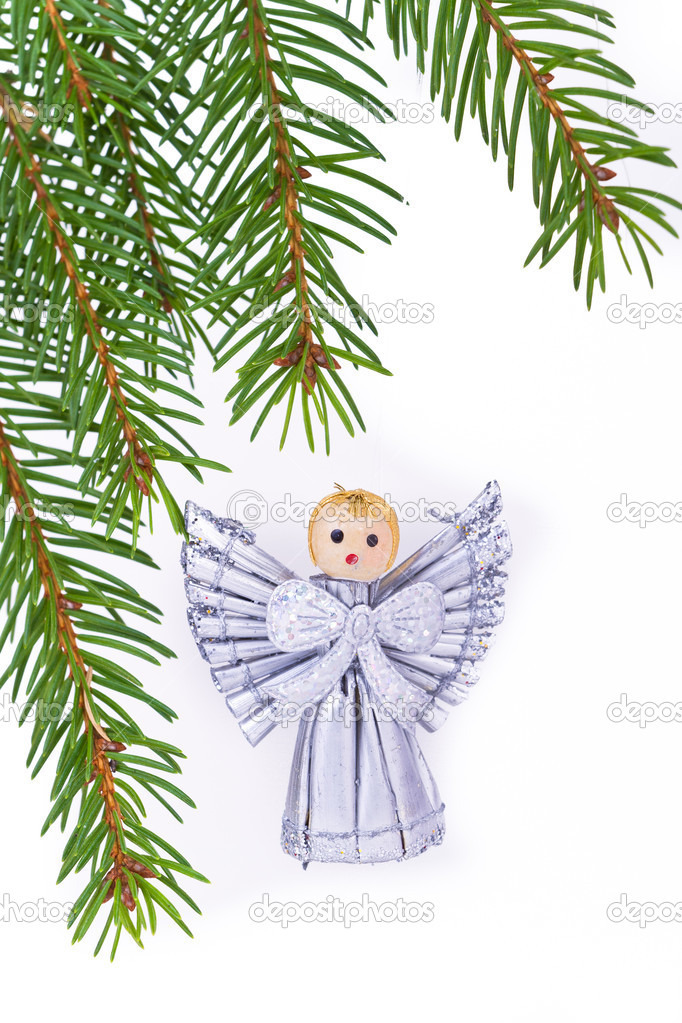 Decoration on Christmas tree isolated  Stock Photo #5297870