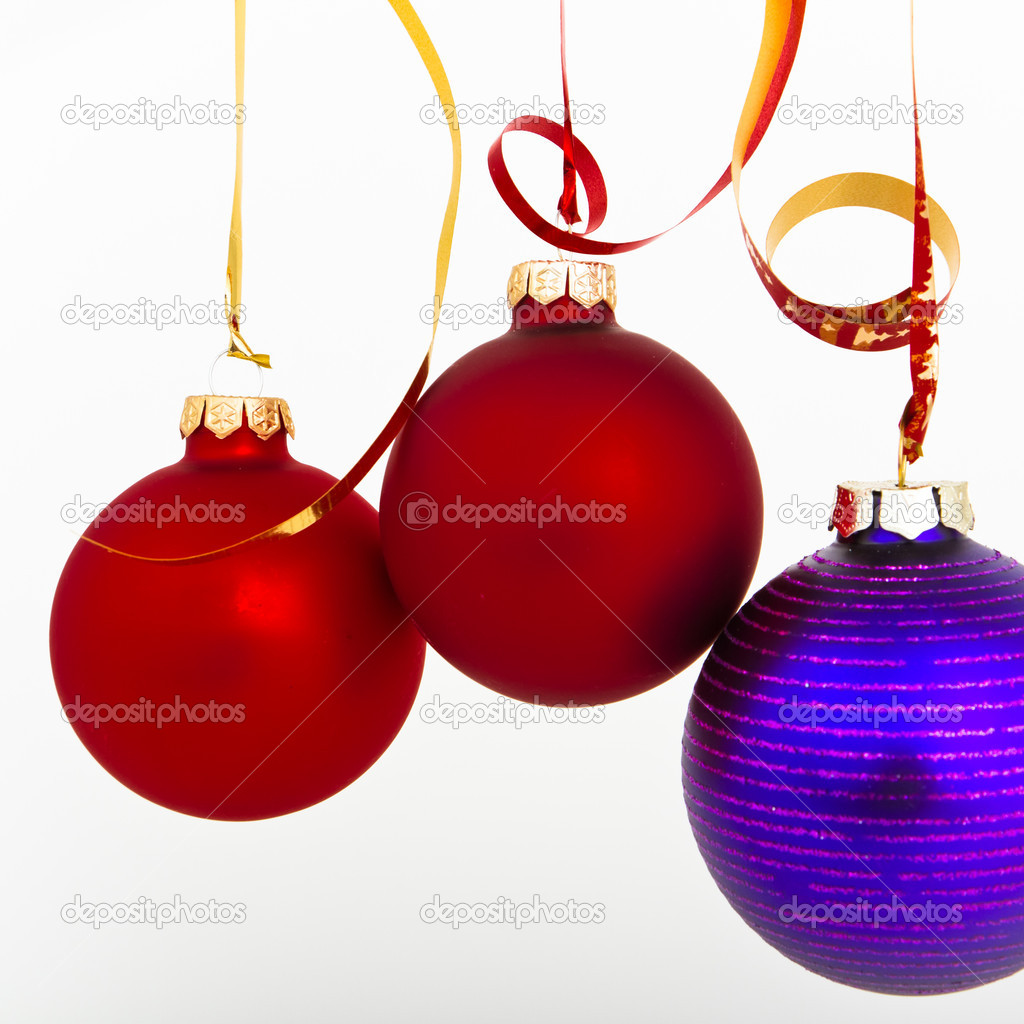 Hanging Christmas decoration on white background — Stock Photo #5298012