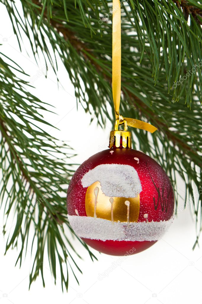 Christmas decoration on Christmas tree  Stock Photo #5298124