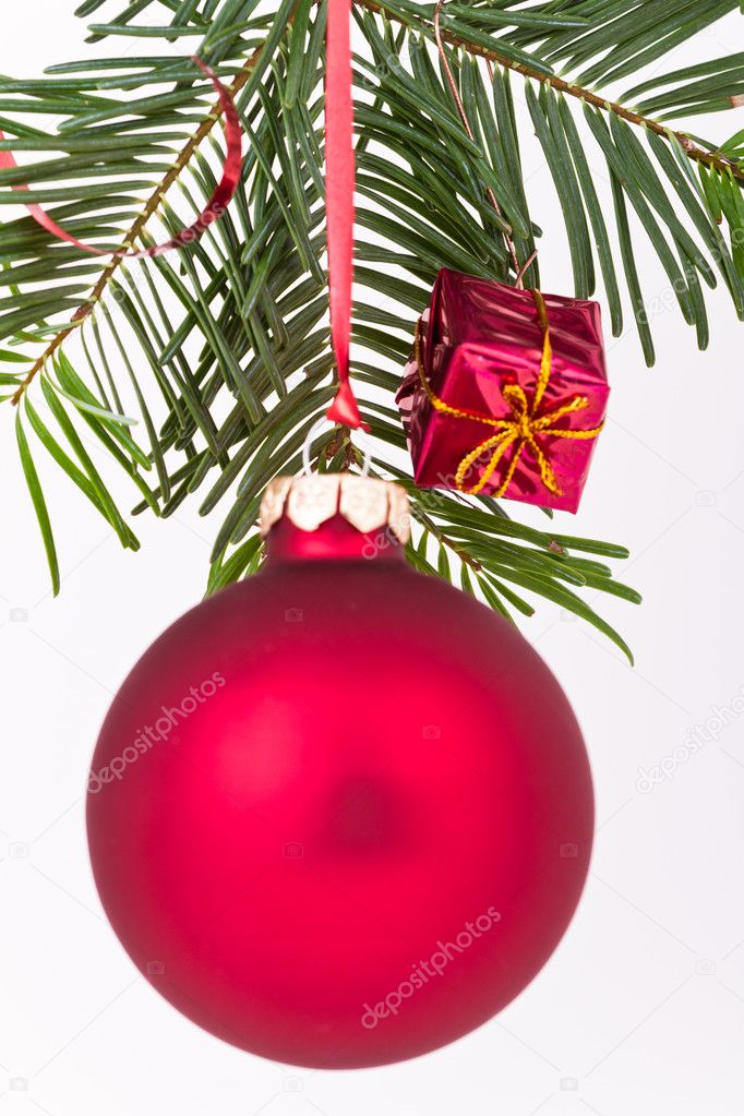 Christmas decoration on Christmas tree — Stock Photo #5298164
